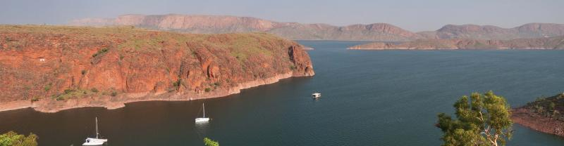 view of boats on Lake Argyle
