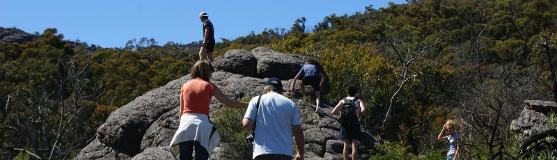 Walkers at the Grampians, victoria