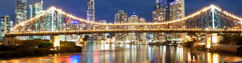 Story Bridge at night in Brisbane, Queensland