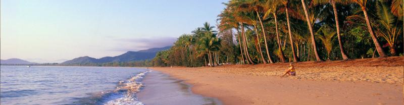 Beautiful tropical beach near Cairns, Far North Queensland