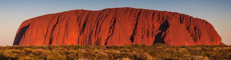 Sun setting on Uluru, Northern Territory