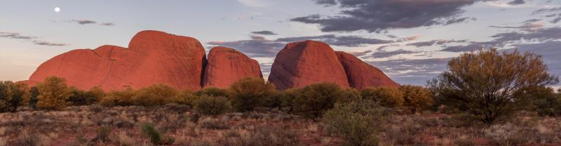 Kata Tjuta under a spectacular sky in the Northern Territory