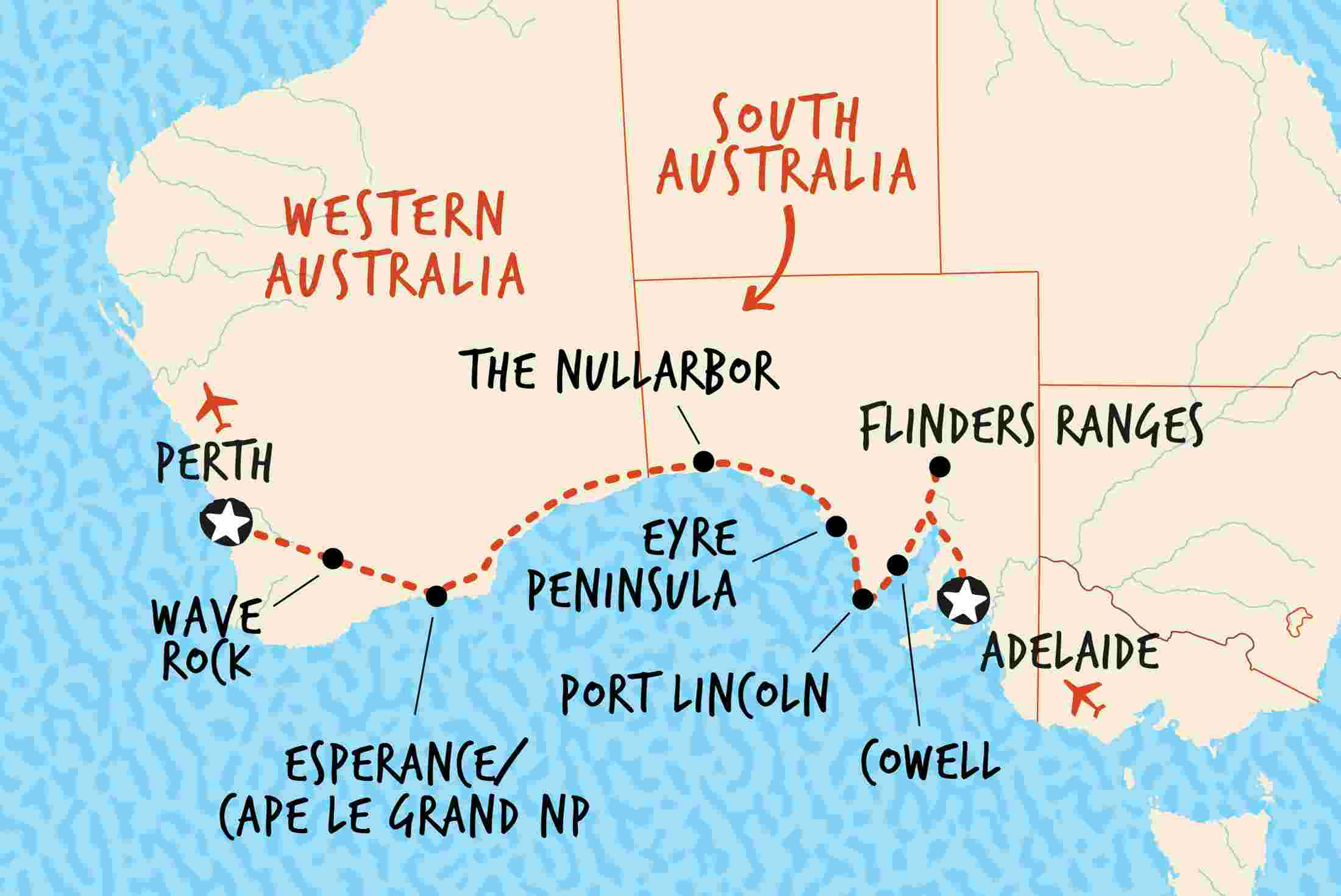 Southern Ocean The Nullarbor Southern Ocean The Nullarbor
