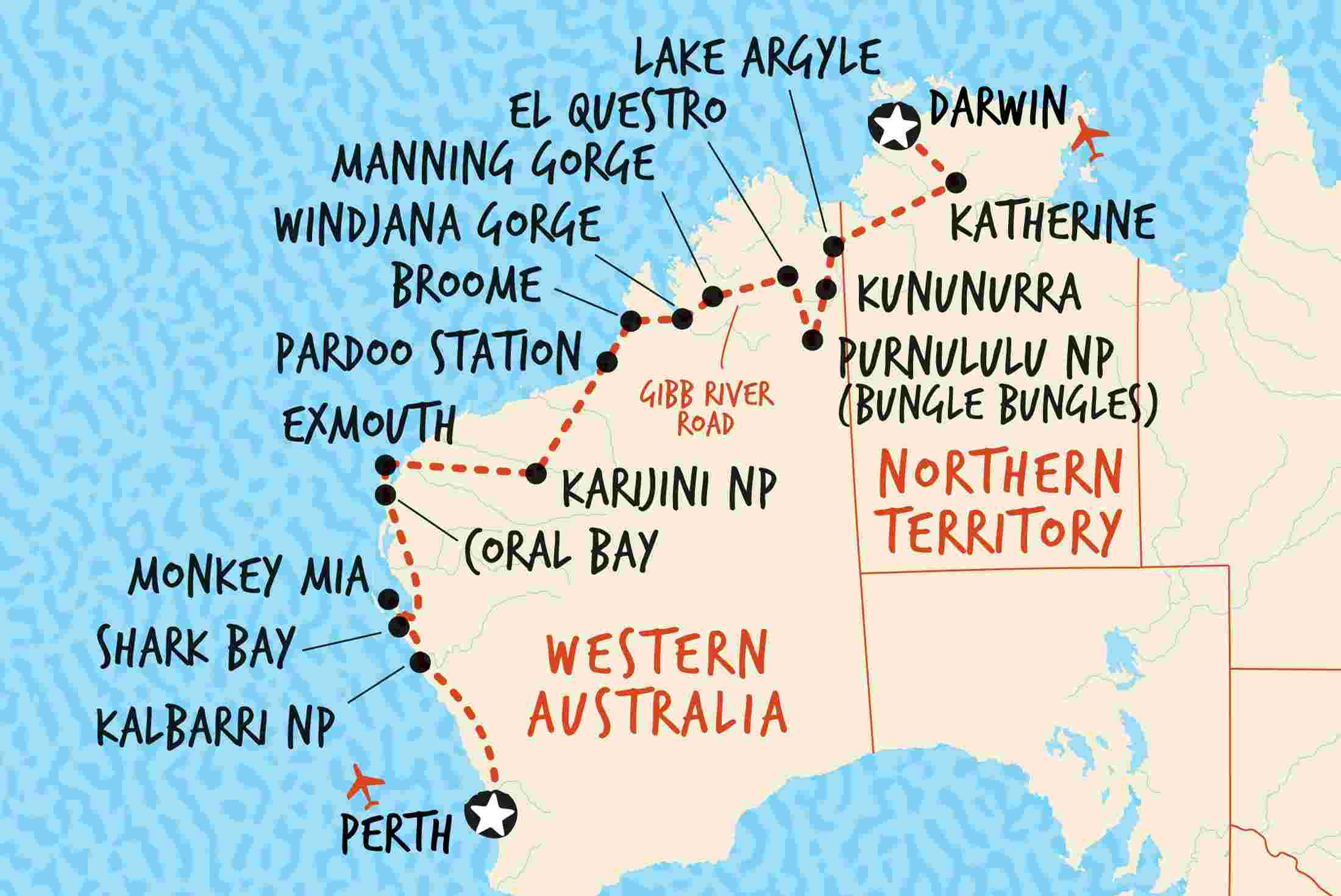 Darwin to Perth Overland | Adventure Tours on