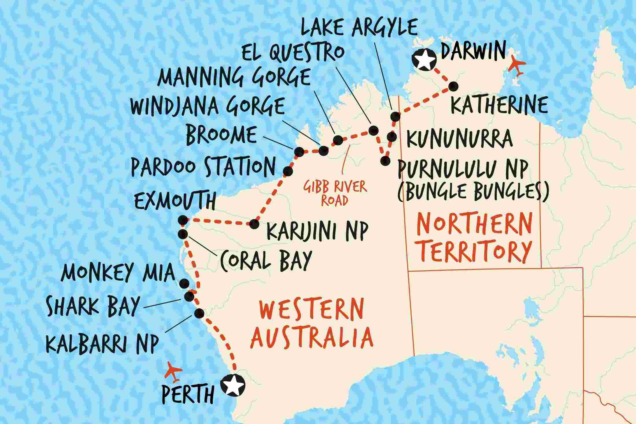 Darwin To Perth Overland Adventure Tours Au