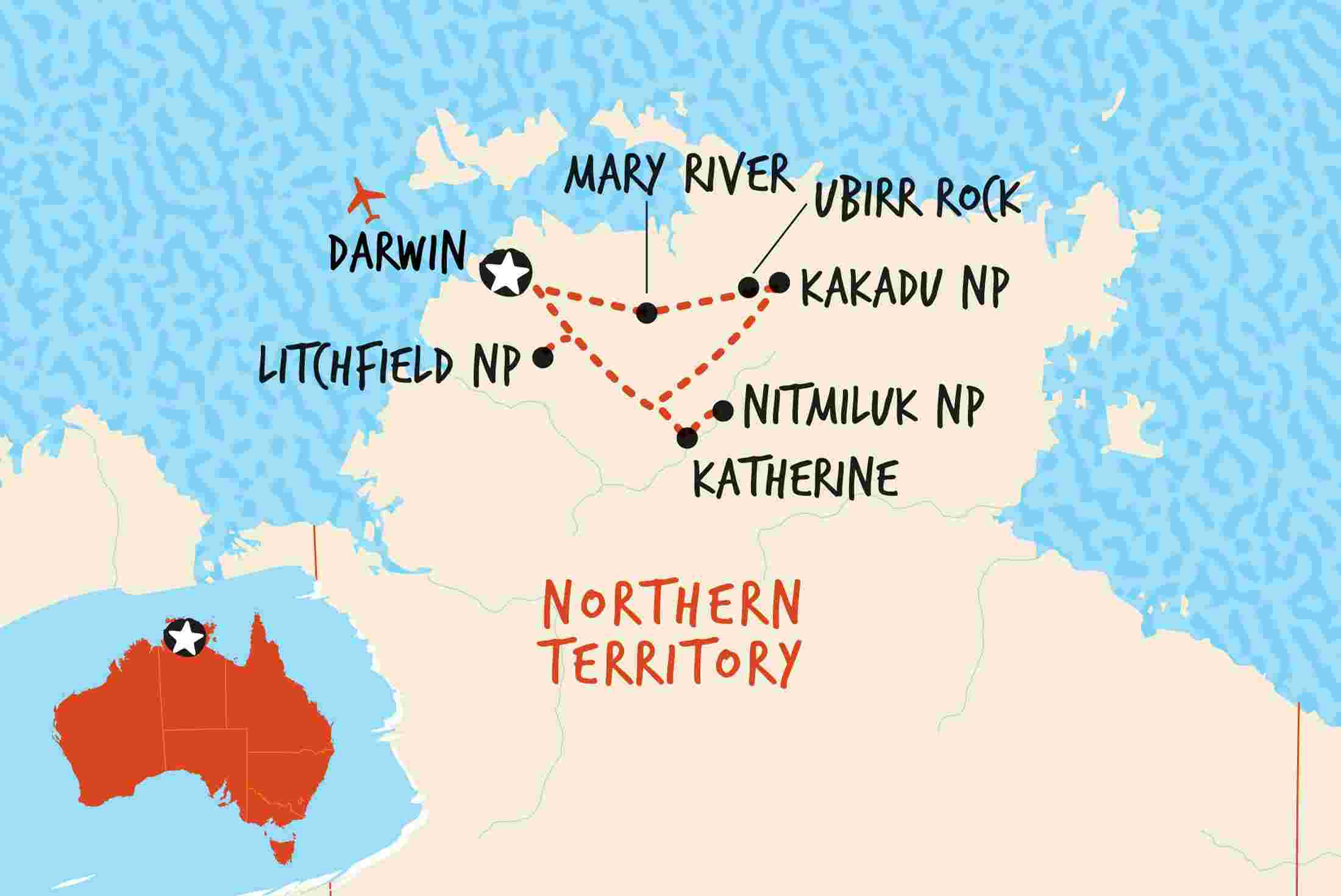 Map Of Australia Kakadu National Park.Kakadu Katherine Litchfield Adventure Overview Kakadu Katherine Litchfield Adventure