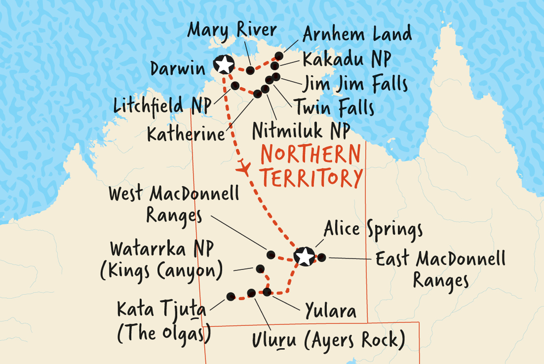 Where Is The Outback In Australia On A Map.Total Territory Top End Outback Overview Total Territory Top End Outback