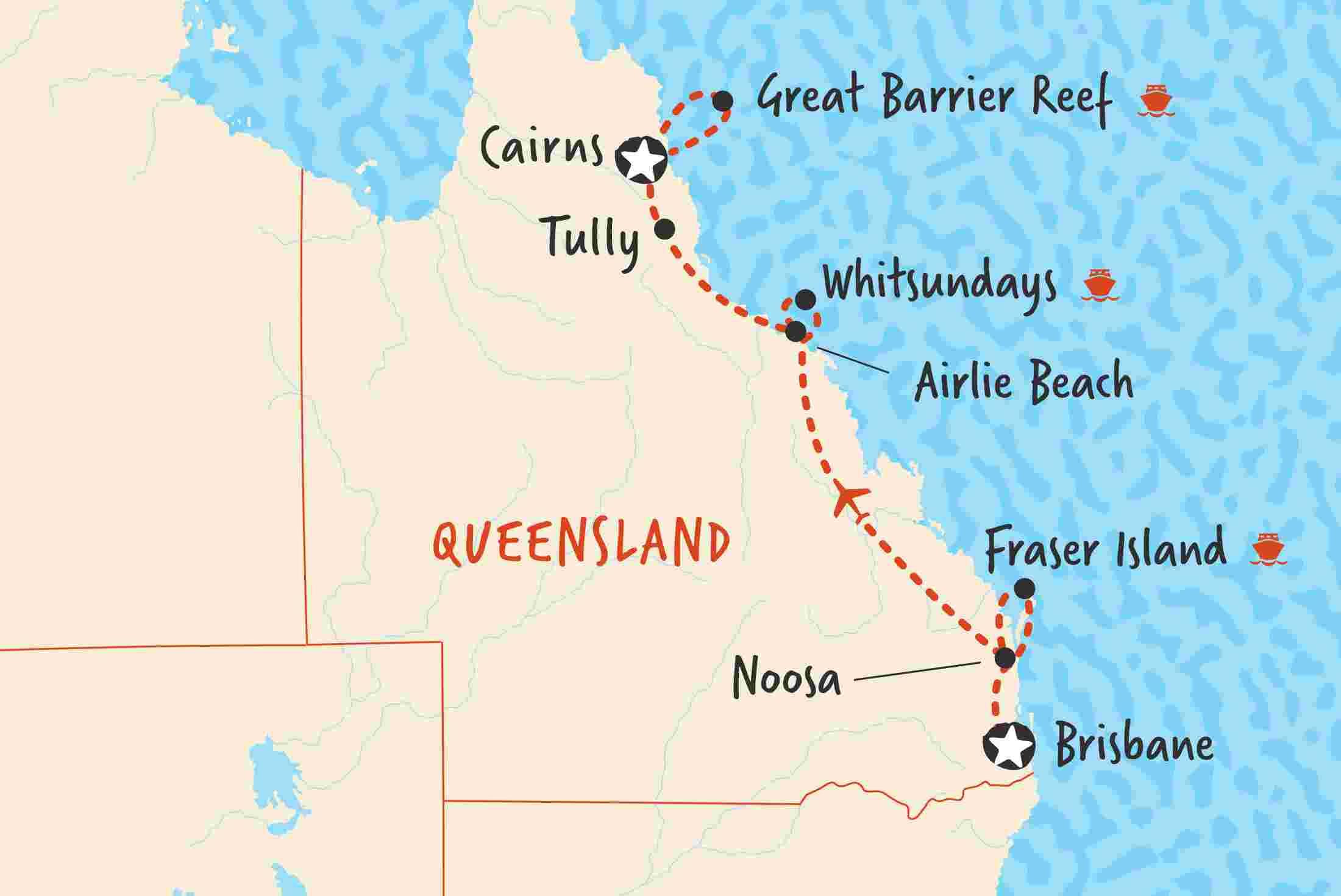 Brisbane to Cairns Northbound | Adventure Tours IE