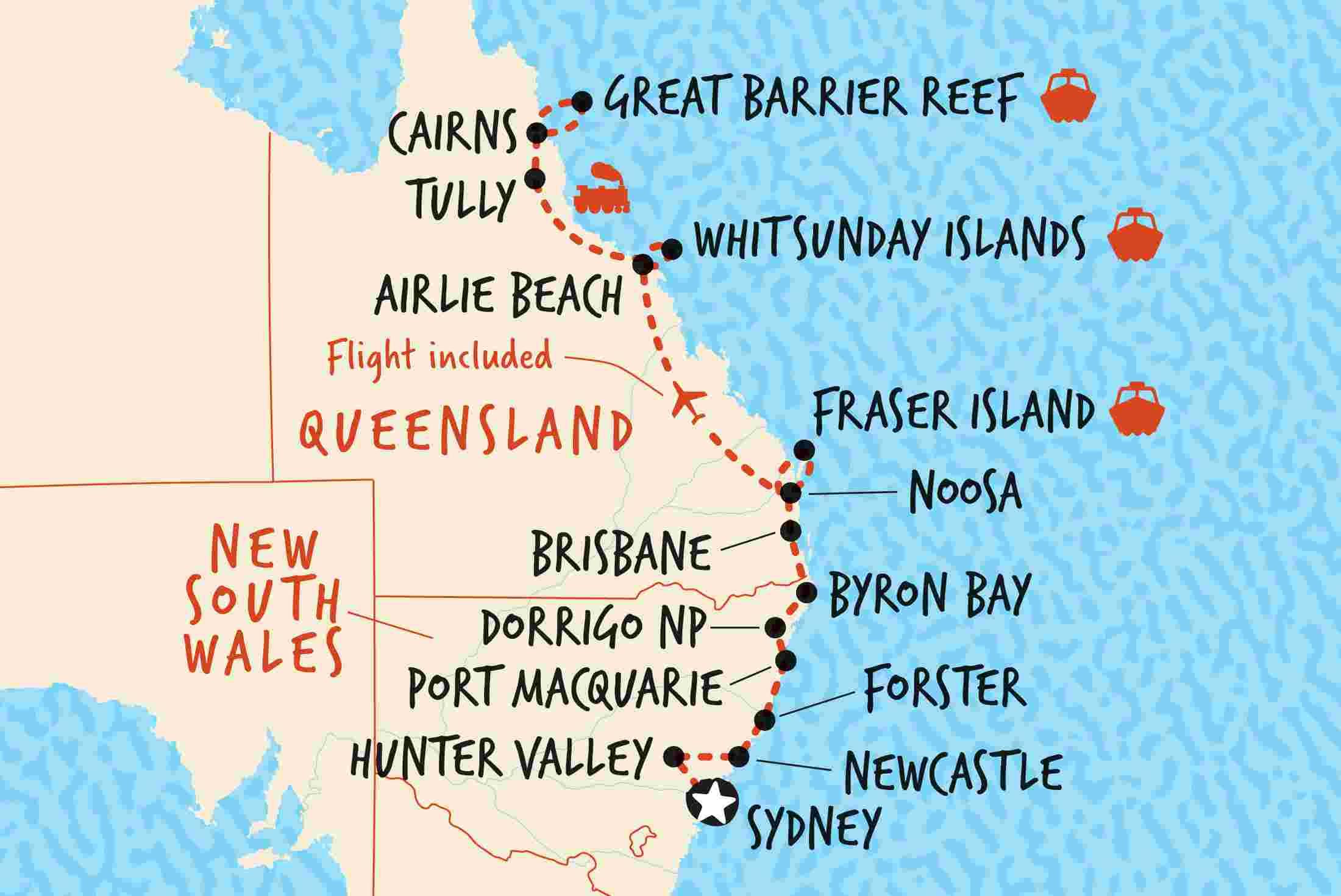 Sydney to Cairns Northbound 2   Adventure Tours