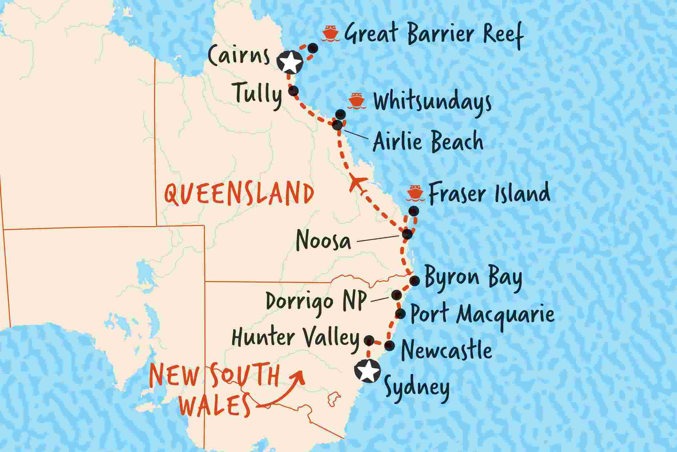 Sydney To Cairns Northbound Adventure Tours