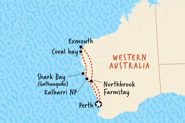 Map of Exmouth Explorer including Australia